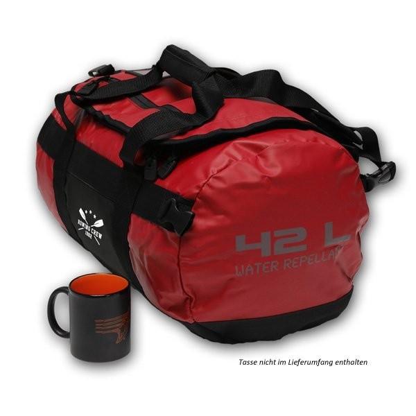 sporttasche rucksack aus pvc plane farbe rot. Black Bedroom Furniture Sets. Home Design Ideas