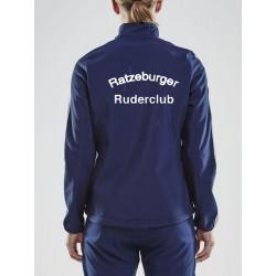 Ratzeburger RC Softshell Jacke mit Druck Flagge und Rückendruck