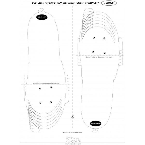 Active Tools Ruder-Schuhe, einstellbar, Bohrmuster