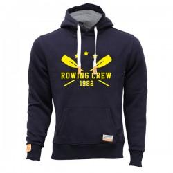 Lässiger Hoodie mit Rowing Crew Logo in sonnengelb in Universalgröße