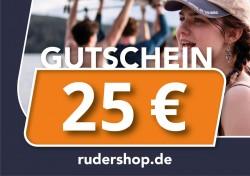 RUDERSHOP Wertgutschein 25 Euro, Motiv 1