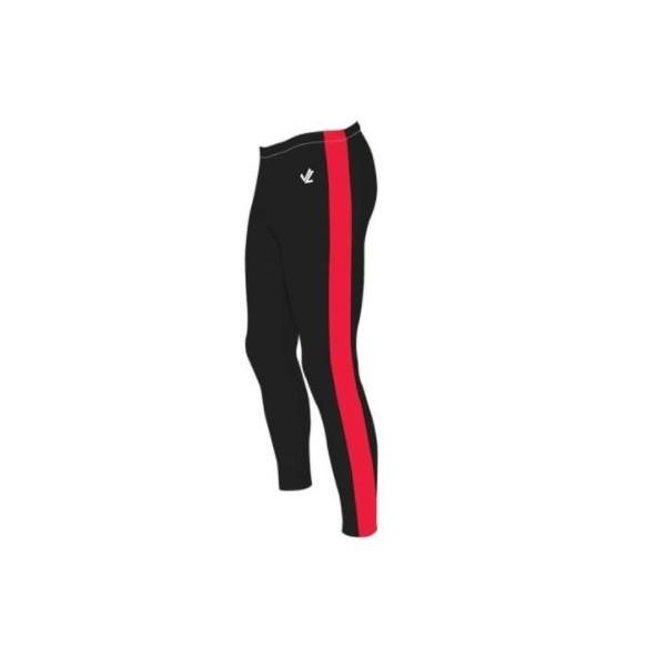 RV Esslingen JLRACING Ruder-Hose Schwarz mit roten Streifen, Lang