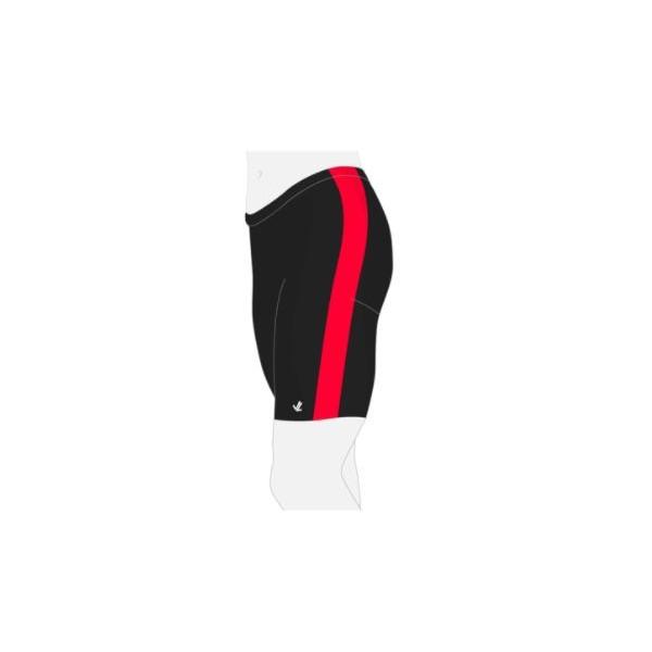 RV Esslingen JLRACING Ruder-Hose Schwarz mit roten Streifen, Kurz