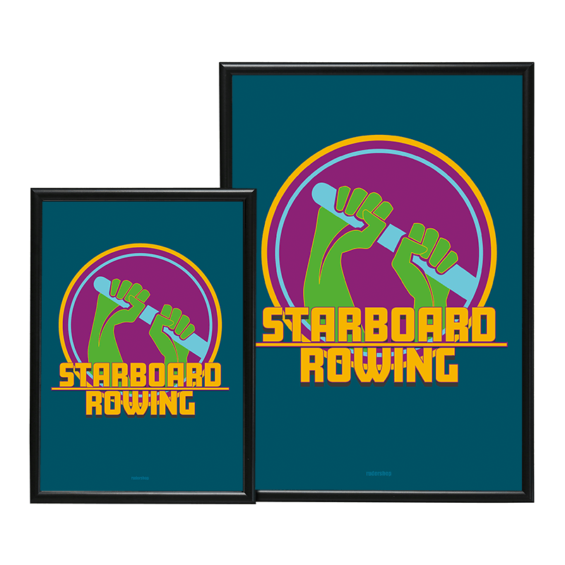 A2 STARBOARD ROWING POSTER